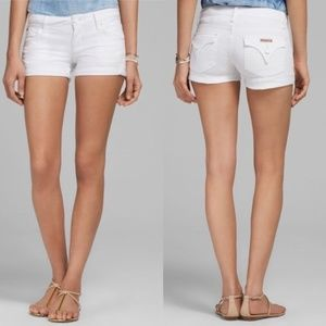 Hudson Jeans | Hamptons White Cuff Denim Shorts